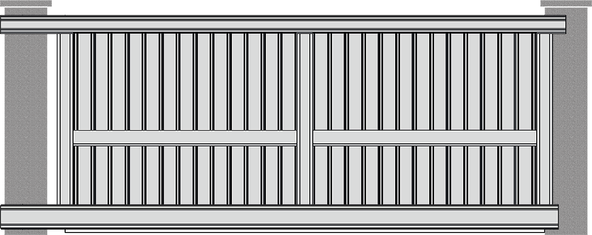 Portones de Aluminio Correderos
