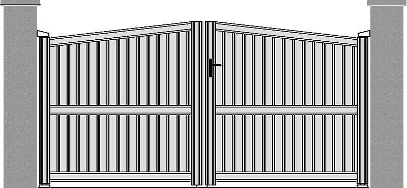 Portón de Aluminio modelo Contemporáneo