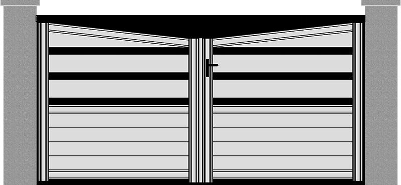 Portón de Aluminio modelo Innovación