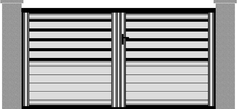 Portón de Aluminio modelo Innovación lama Z